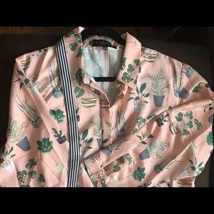 Eloquii Flared Pink Shirt Dress